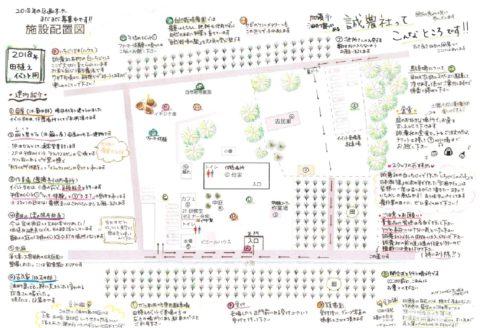 2018年 田植えイベント用の施設案内図です!