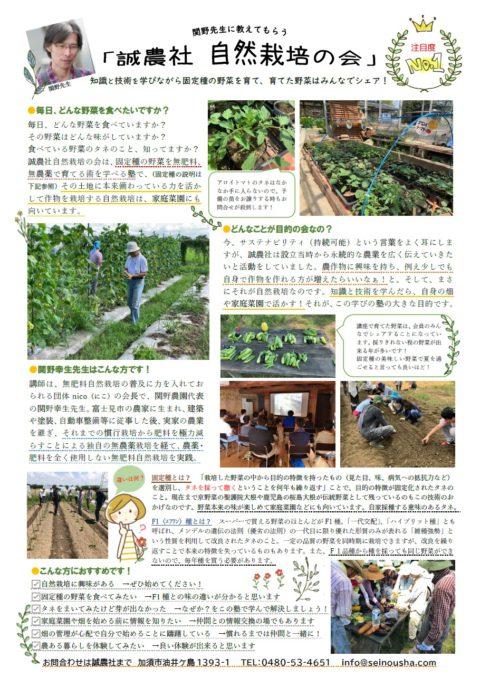 固定種の苗のお譲りは終了しました&「自然栽培の会」会員募集中!